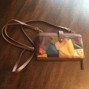The Sak Iris Leather Crossbody Wallet